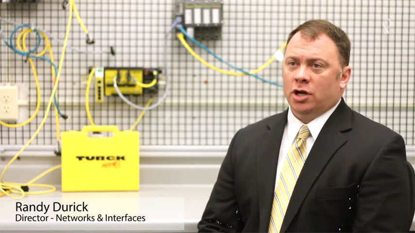 Randy Durick explaining Turck's Multiprotocol approach
